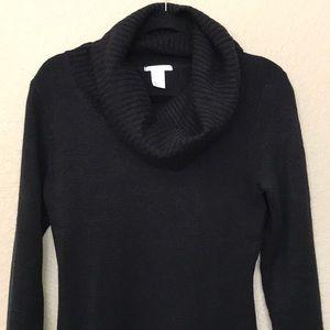 H&M Black Cowl Neck Sweater Dress